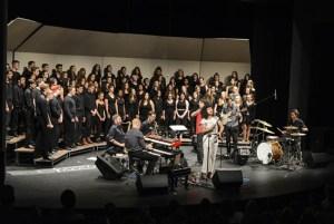 Alternative band AU perform with the Camas High School Vocal Ensemble choir. Courtesy Portland Mercury