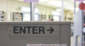 Library Enter Sign