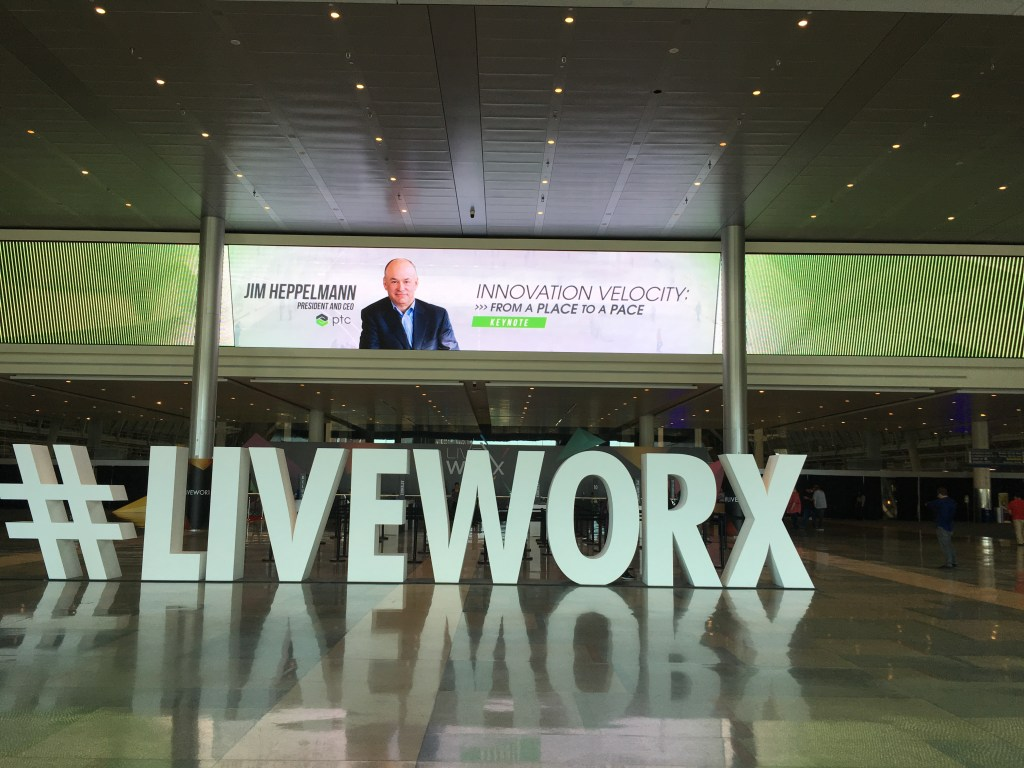 Entrance to PTC's LiveWorx conference 2018