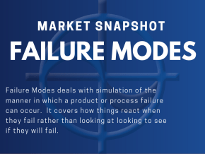 CAE Market Snapshot - Failure Modes Failure Modes deals with simulation of the manner in which a product or process failure can occur. It covers how things react when they fail rather than looking at looking to see if they will fail.