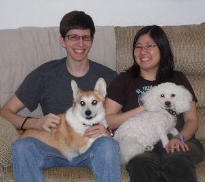 "Mikey, Amanda with ""Tika"" and ""Kupo"""