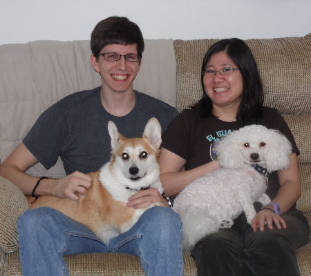 "Mikey, Amanda with ""Tika"" and ""Kupo"""