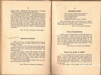 Mrs Bassett cook book recipes 2