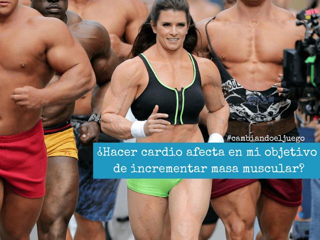 Hacer cardio afecta en mi objetivo de incrementar masa muscular