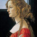 Retrato póstumo (c. 1476-80) de Simonetta Vespucci por Sandro Botticelli