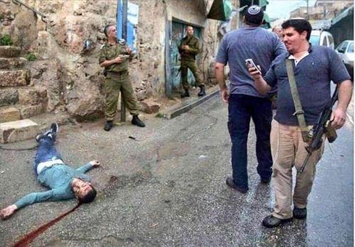 Militares y paramilitares israelíes en plena acción