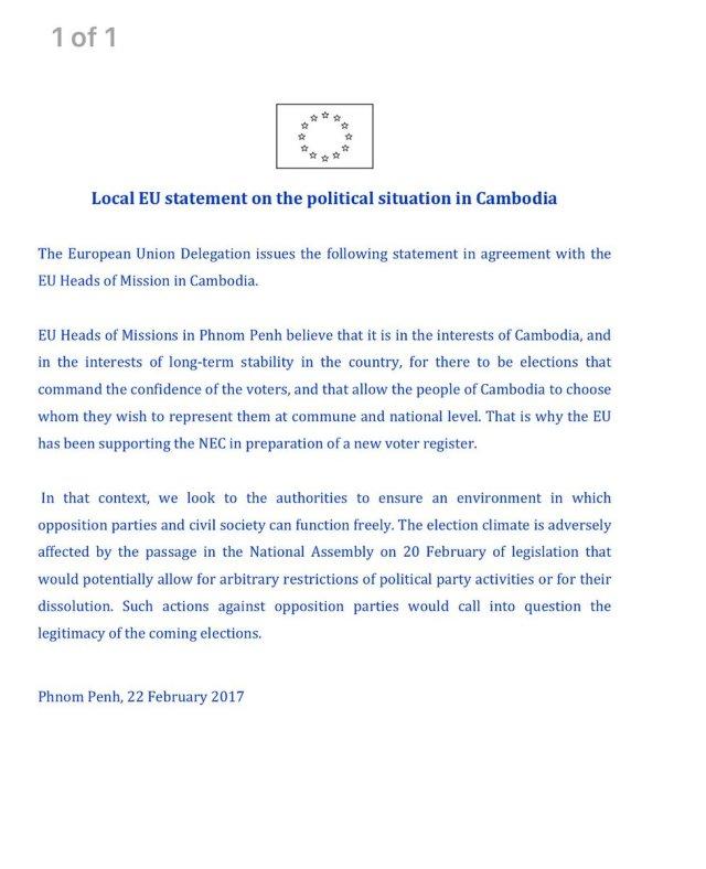 Communiqué EU