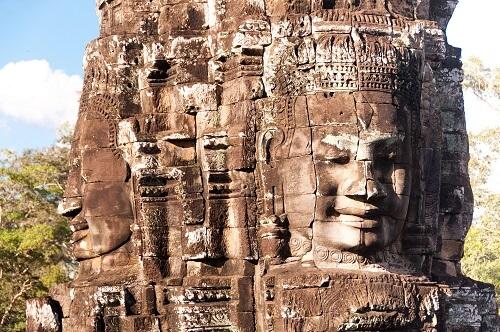 Bayon Tempel - Angkor Thom, Siem Reap, Cambodja