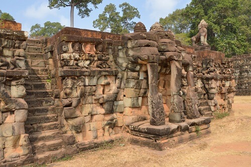 Terrace of Elephants - Angkor Thom, Siem Reap, Cambodja