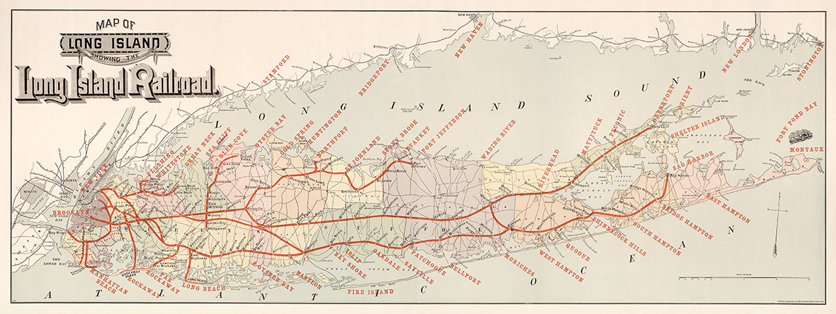 1895 Map of the Long Island Rail Road – Transit Maps Store