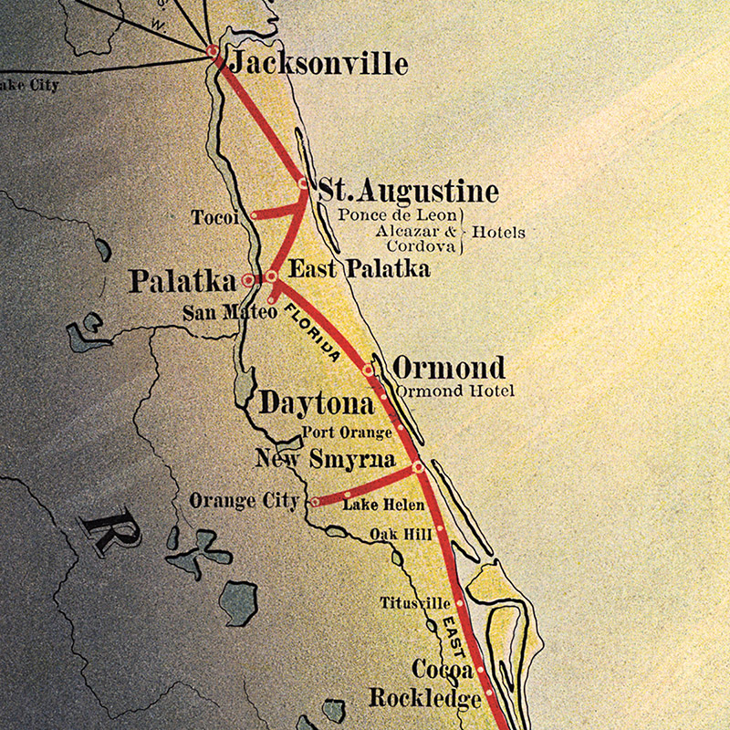 Florida East Coast Railway And Steamship Lines Transit Maps - Map of east florida