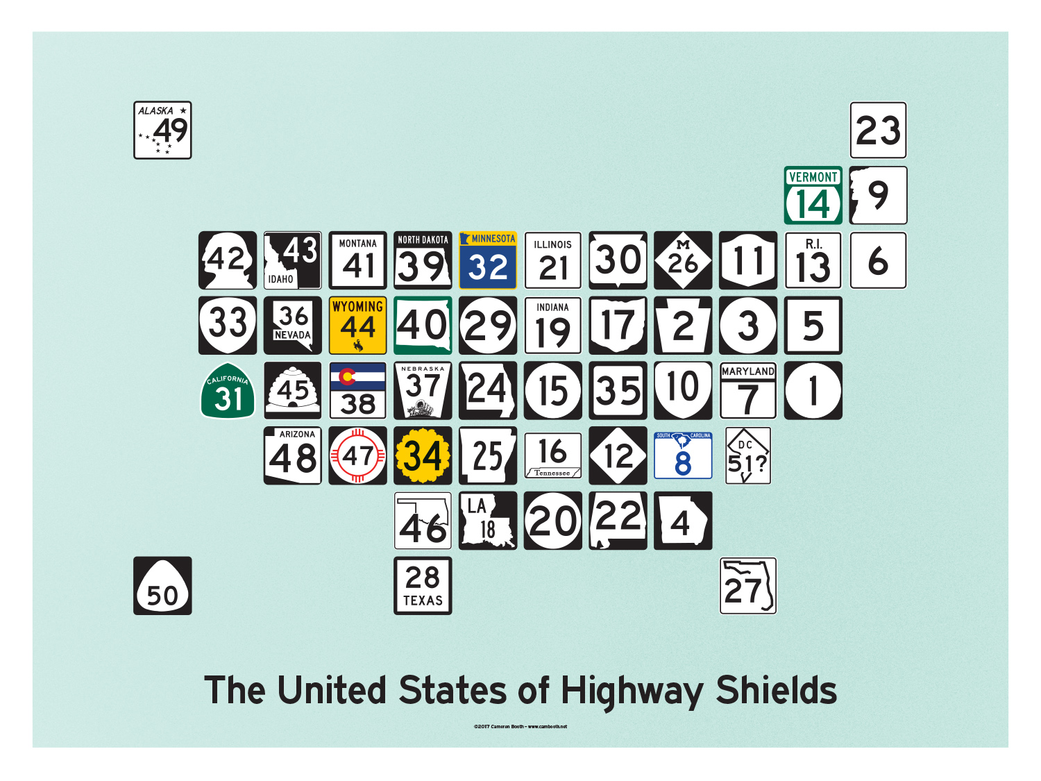 United states of highway shields transit maps store united fandeluxe Images