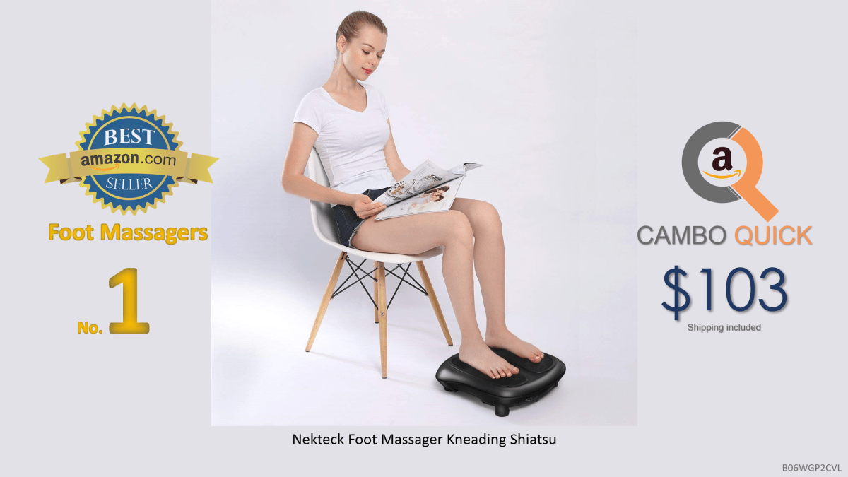 Nekteck Foot Massager Kneading Shiatsu Therapy Plantar Massage with Built in Infrared Heat Function and Power Cord - Black.png