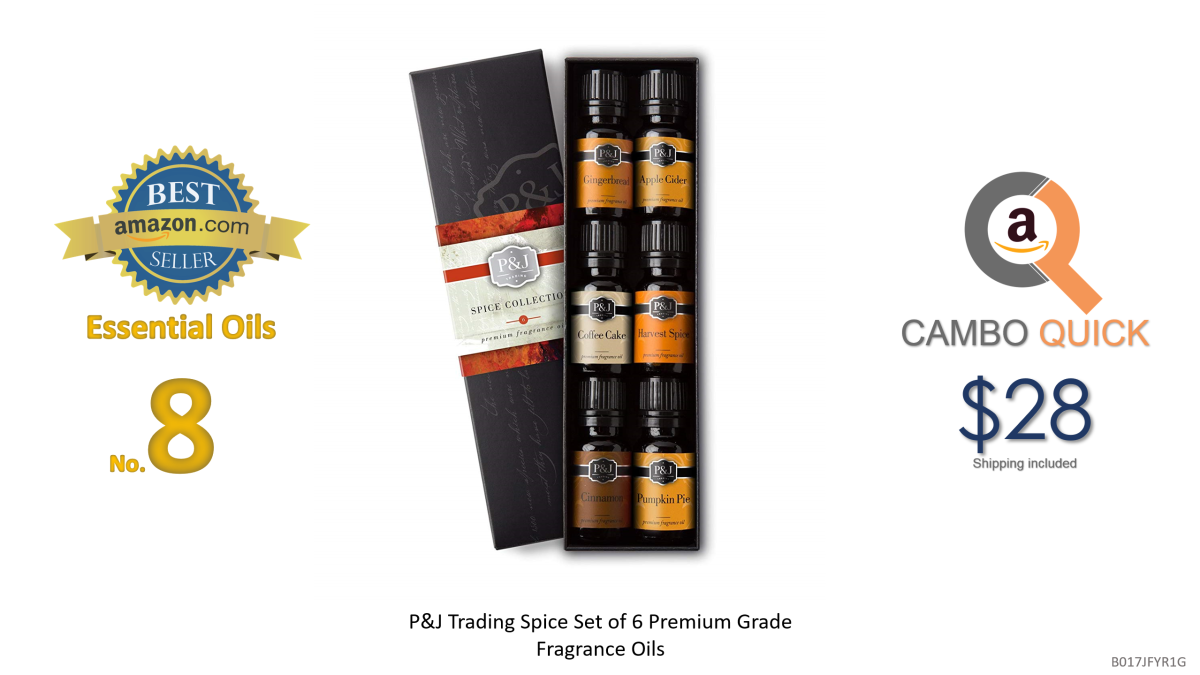 P&J Trading Spice Set of 6 Premium Grade Fragrance Oils - Cinnamon, Harvest Spice, Apple Cider, Coffee Cake, Gingerbread, Pumpkin Pie - 10ml.png