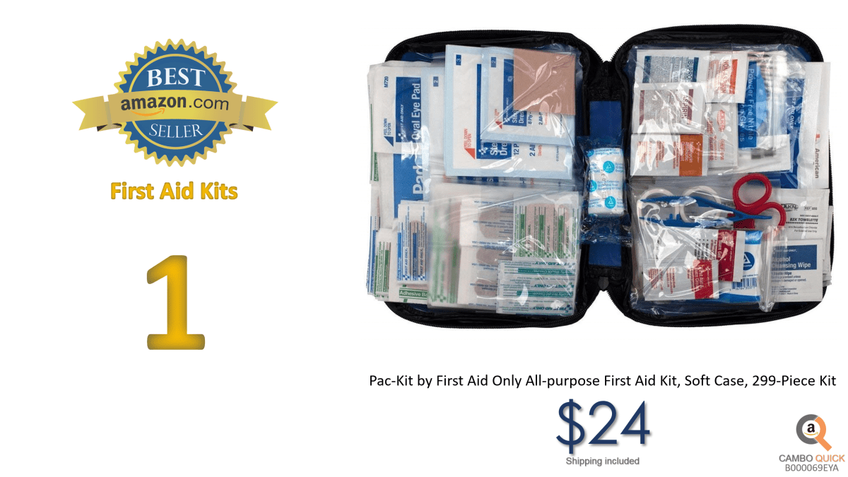Pac-Kit by First Aid Only All-purpose First Aid Kit, Soft Case, 299-Piece Kit.png