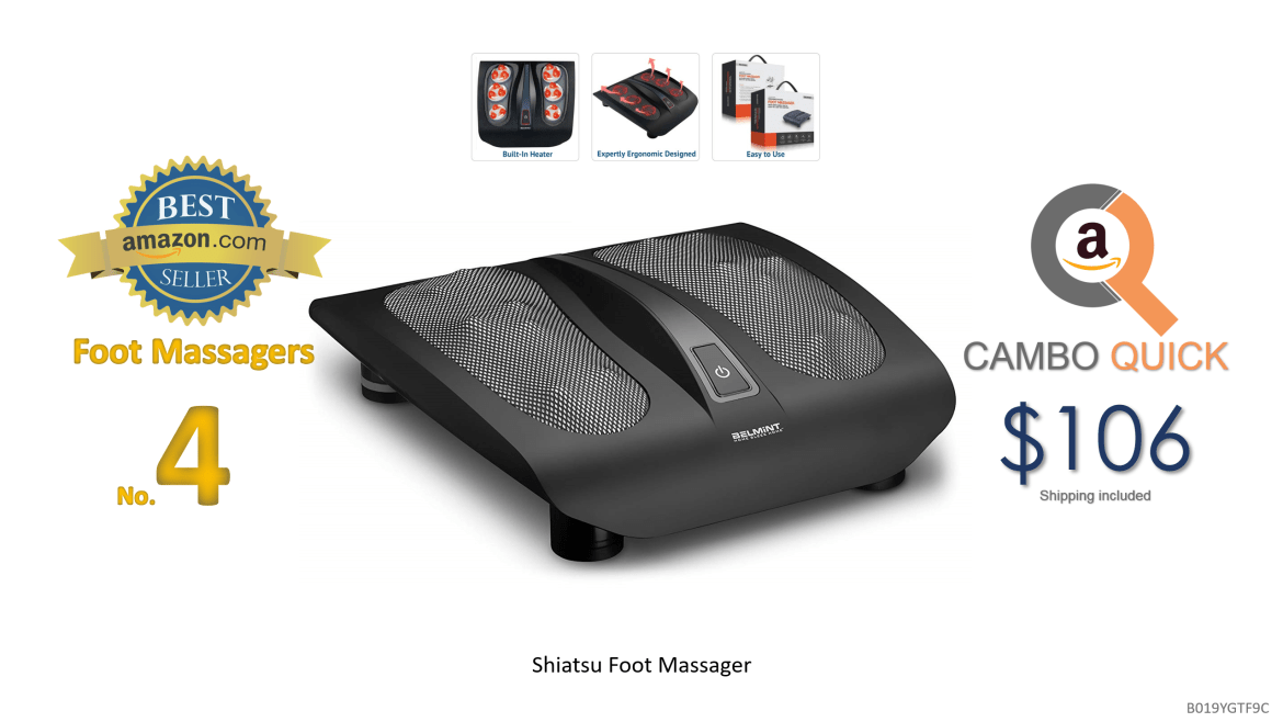 Shiatsu Foot Massager for Painful Plantar Fasciitis, Chronic and Nerve Pain - Deep Kneading Shiatsu Therapy Massage with Built-In Heat Function Massage....png