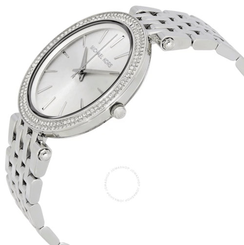 MICHAEL KORS Darci Silver Dial Pave Bezel Ladies Watch MK3190