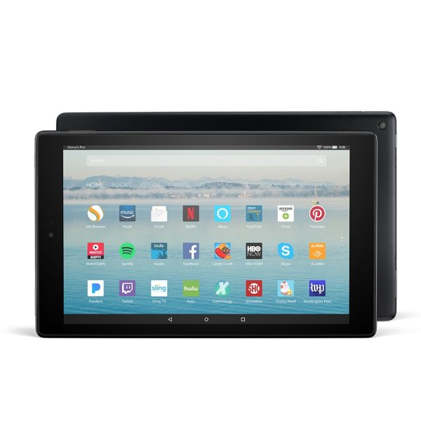 Fire HD 10 Tablet with Alexa Hands-Free, 10.1″ 1080p Full HD Display, with Special Offers