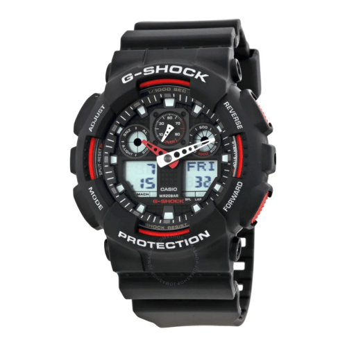 CASIO G-Shock Black Resin Strap GA100-1A4