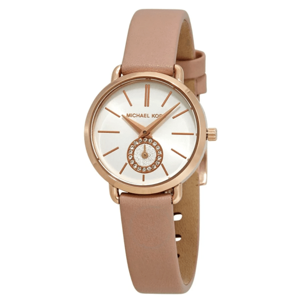 MICHAEL KORS Petite Portia White Dial Ladies Watch MK2735