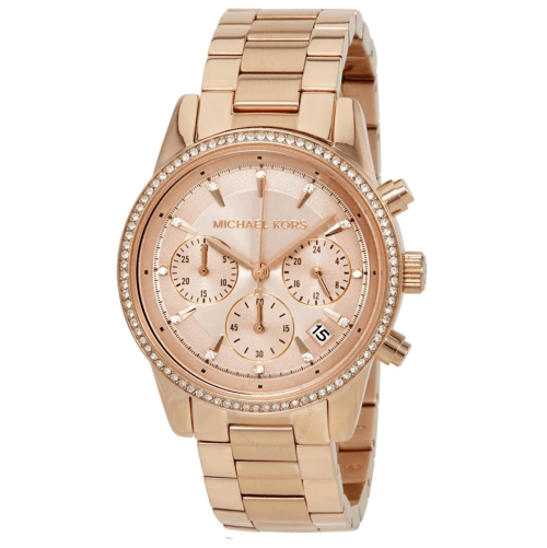MICHAEL KORS Ritz Rose Dial Ladies Watch MK6357