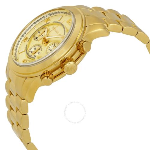 MICHAEL KORS Runway Chronograph Champagne Dial Men's Watch MK8077