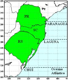 Previsão para a navegação e pesca para 5 dias – Laguna a Paranaguá