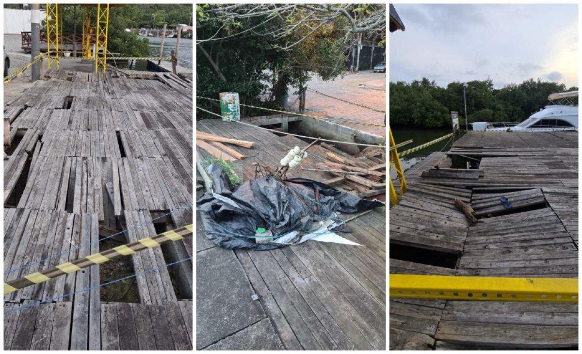 Trapiche da Barra Sul foi demolido após interdição da Defesa Civil
