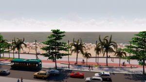 Prefeitura lança site para população acompanhar obra do alargamento da praia central