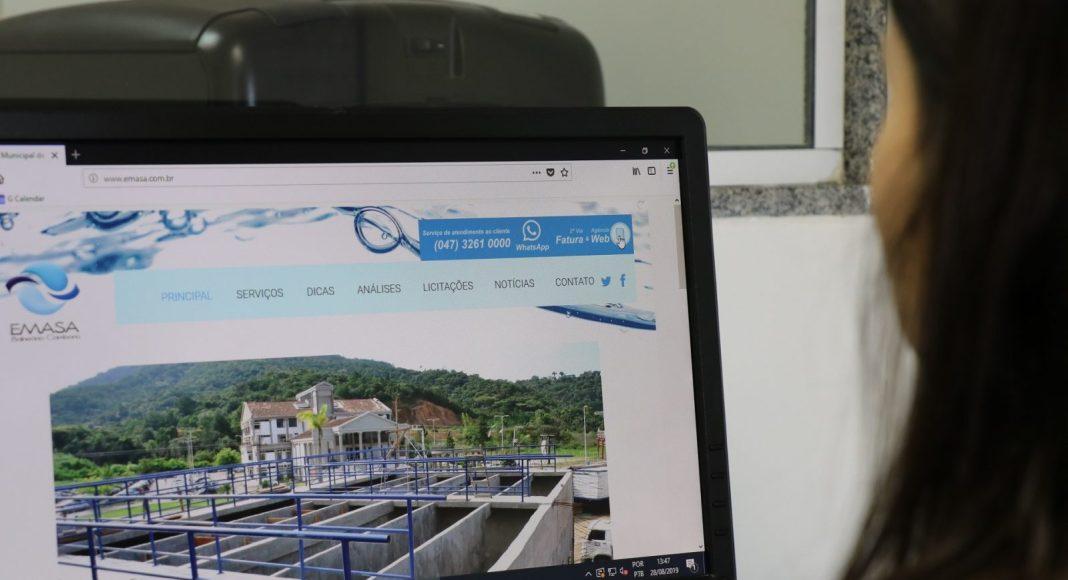 Agência Web do serviço EMASA