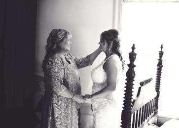 Special moments begin before the ceremony.