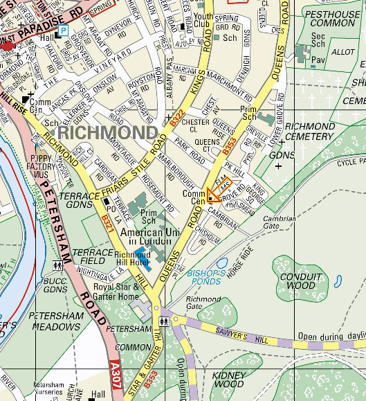 Map showing location of the Centre