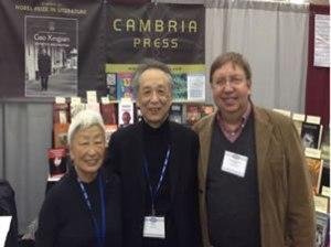 Cambria Press MLA Booth Mabel Lee Gao Xingjian Christopher Lupke