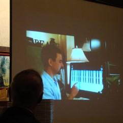 Cambria Press Sinophone World Series Reception: Victor Mair watching Tom Mair's birthday video