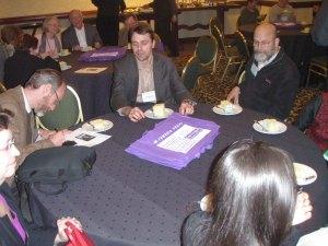 Cambria Press Sinophone World Series Reception: Signing Victor Mair's birthday album