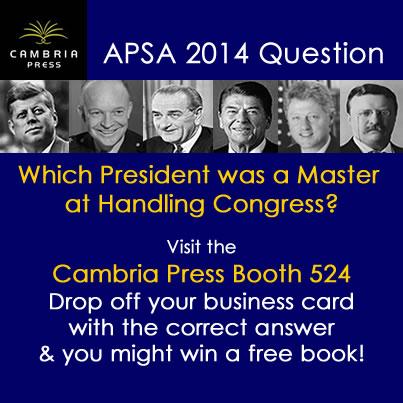 #APSA2014 Cambria Press academic publisher