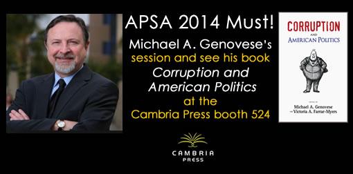 Michael A Genovese #APSA2014 Cambria Press academic publisher