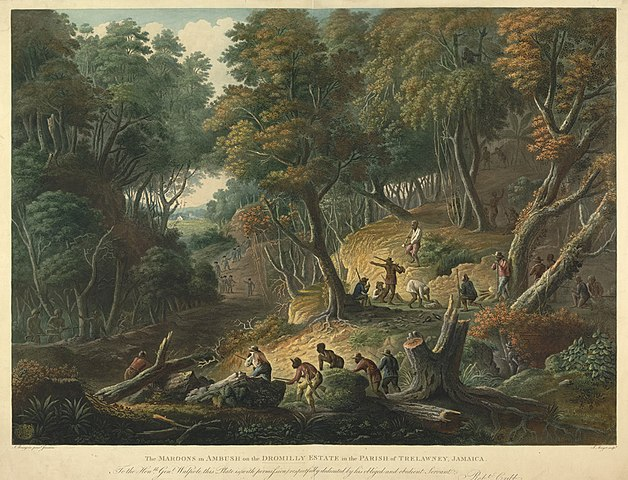 The Maroons In Ambush On The Dromilly Estate In The Parish Of Trelawney, Jamaica in 1795