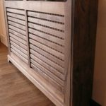 Bespoke hand-crafted Walnut radiator cover