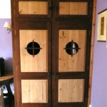 Made-to_measure walnut and pinew wardrobe