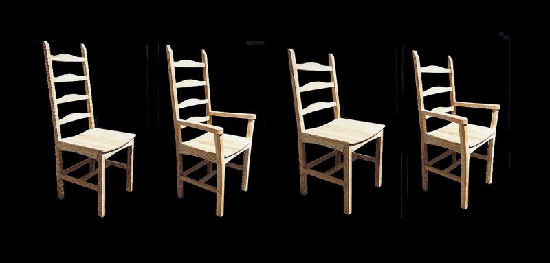 Artistic ash designer chairs