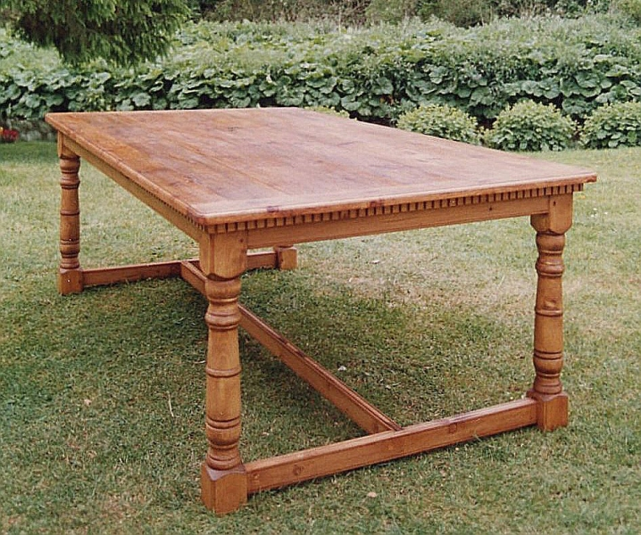Large refectory table from reclaimed pine