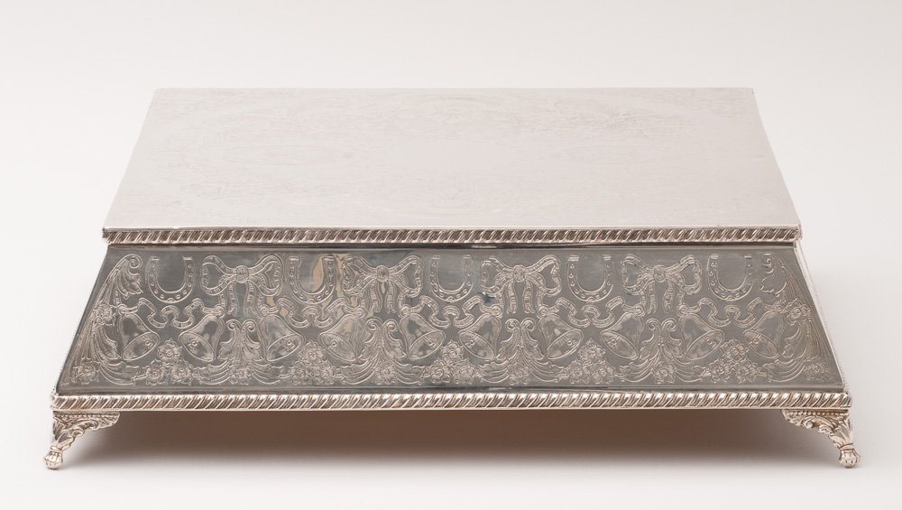 Wedding Cake Stand Square Base Silver Plate 16 4064
