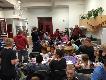 Dinner time at the Halloween Dance.