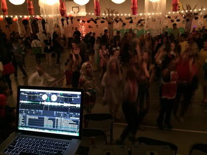 The view from the DJ's booth.