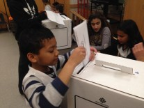 Students vote for Surrey's next mayor as part of the Student Vote 2014 program.