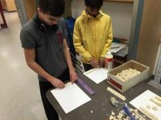 Designing pyramids in Mr. Stemler's class.