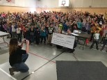 $2500 cheque presentation to BC Cancer Foundation