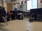 Take cover - Earthquake drill
