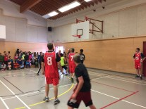 RCMP vs Grade 7 basketball game